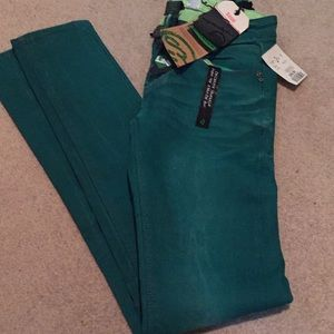 One Green Elephant green jeans